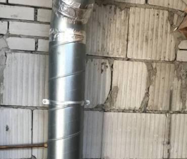 ventilatie kanaal op zolder