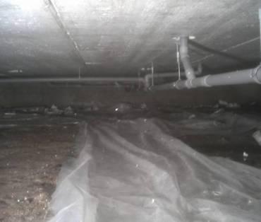 aanpassing afvoer installaties in kruipruimte