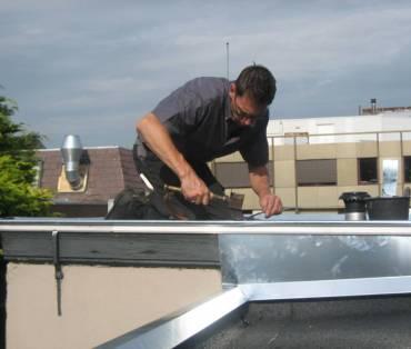 zinken plat dak installatie
