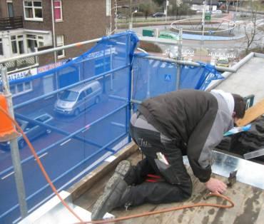 plat dak zink aanbrengen