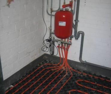 Vloerwerwarming installatie