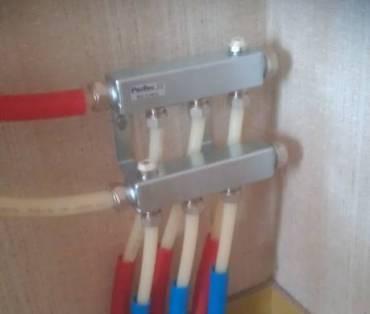 Verdeler voor vloerverwarming installatie