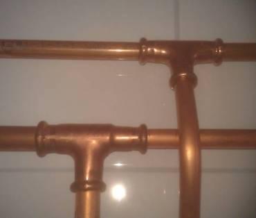 Koperen leidingen tbv waterinstallatie